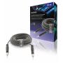 Mono Audiokabel 6.35 mm Male - 6.35 mm Male 10.0 m Donkergrijs